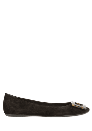 10mm Gommette Suede Flats W/ Buckle