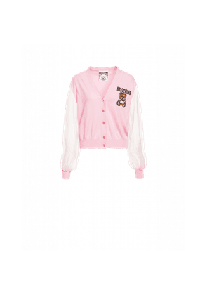 Cotton Cardigan Teddy Embroidery