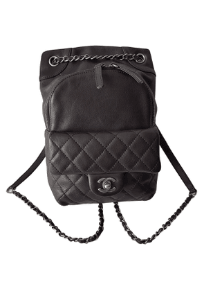 Chanel timeless/classique anthracite leather backpacks