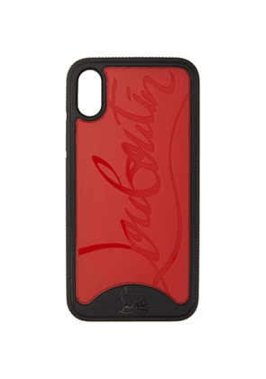 Christian Louboutin Black and Red Loubiphone Sneakers iPhone X/XS Case