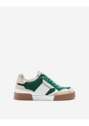 Dolce & Gabbana Shoes (24-38) - MIAMI SNEAKERS IN SPLIT-GRAIN LEATHER WITH RUBBERIZED LOGO LABEL GREEN