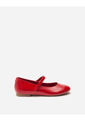 Dolce & Gabbana Shoes (24-38) - PATENT LEATHER MARY JANE BALLET SHOE RED