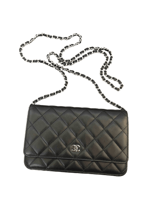 Chanel wallet on chain black leather clutch bag
