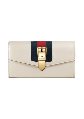 Gucci Sylvie leather continental wallet - White
