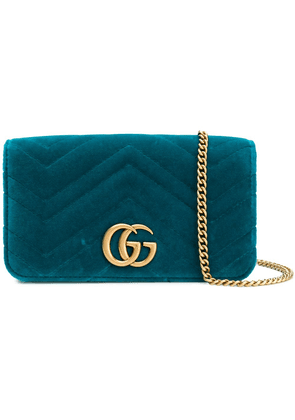 Gucci GG Marmont chevron clutch - Blue