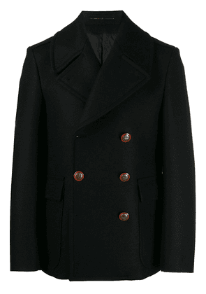 Givenchy unicorn buttons double-breasted coat - Black