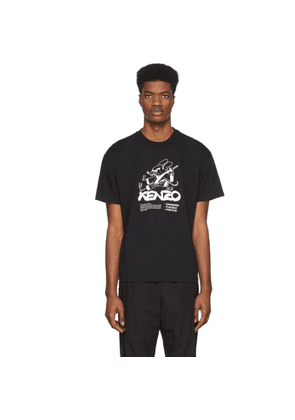 Kenzo Black Limited Edition Chinese New Year Kung Fu Rat T-Shirt