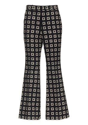 Cropped G Print Faille Flared Pants