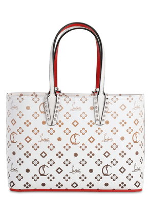 Small Cabata Logo Print Leather Tote Bag