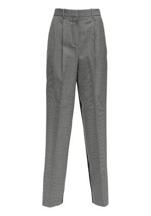 Wool Gabardine Straight Leg Pants