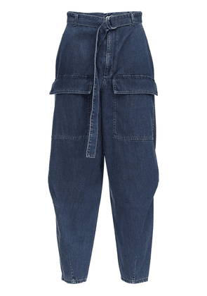 Tapered Cotton Denim Jeans