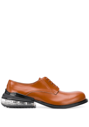 Maison Margiela clear heel derby shoes - Brown