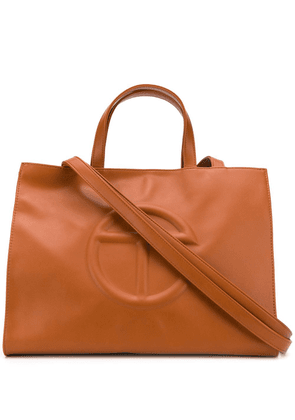 Telfar embossed logo tote - Brown