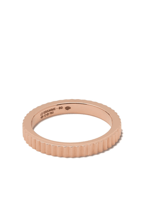 Le Gramme 18kt Red Gold 5g Vertical Guilloche Ring