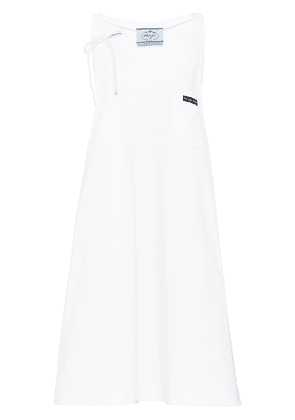 Prada scoop neck swing dress - White