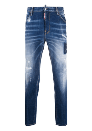 Dsquared2 faded slim fit jeans - Blue