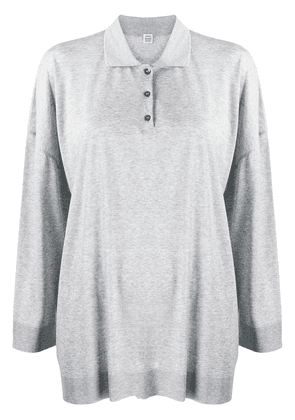 Totême oversized polo shirt - Grey