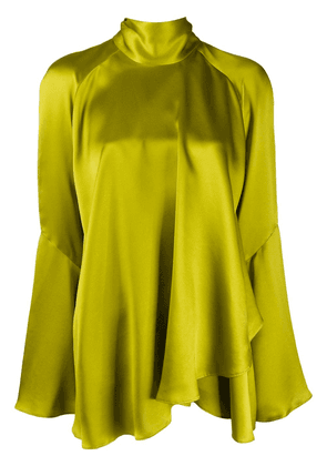 Alberta Ferretti draped silk blouse - Green