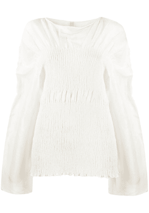 Totême gathered effect blouse - 100 WHITE