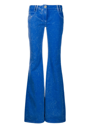 Balmain low rise flared jeans - Blue