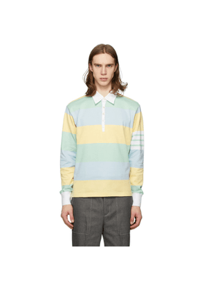 Thom Browne Multicolor Rugby Stripe Funmix 4-Bar Polo