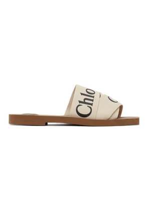 Chloe Off-White Woody Flat Mules