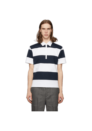 Thom Browne Navy Rugby Stripe Polo