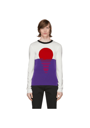 Paco Rabanne Off-White and Purple Sunset Sweater