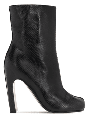 105mm Tabi Snake Embossed Leather Boots