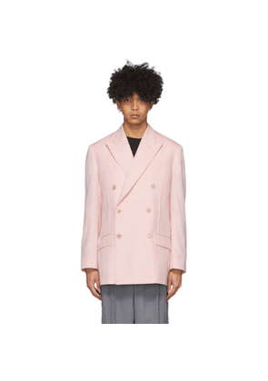 Givenchy Pink Double-Breasted Oversized Blazer