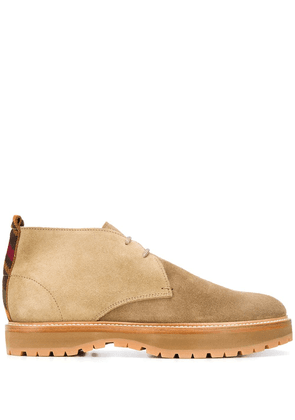 Missoni suede panel lace-up boots - Brown