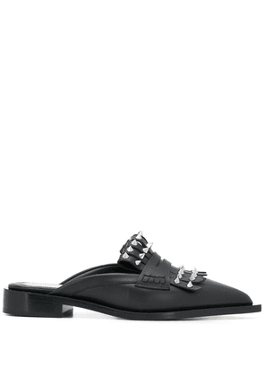 Alexander McQueen studded leather mules - Black