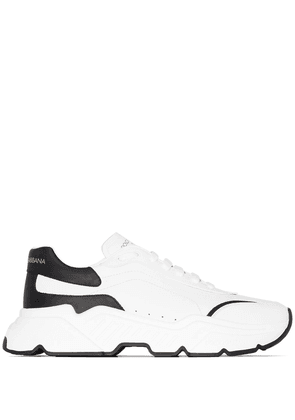 Dolce & Gabbana Day Master two-tone leather sneakers - White