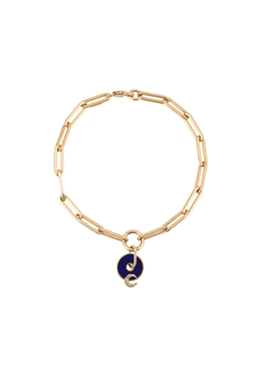 Foundrae 18kt yellow gold Blue Moon Charm Fob Clip bracelet