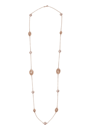 Yoko London 18kt rose gold Classic Freshwater pearl necklace - 9