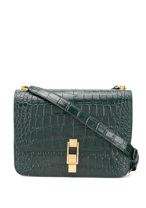 Saint Laurent Carre crocodile-effect shoulder bag - Green