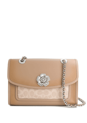 Coach monogram print shoulder bag - NEUTRALS