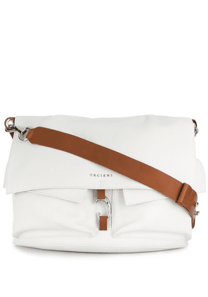 Orciani foldover shoulder bag - White