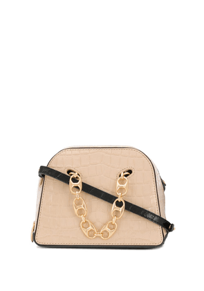 Danse Lente Mini Bowling croc-effect bag - NEUTRALS