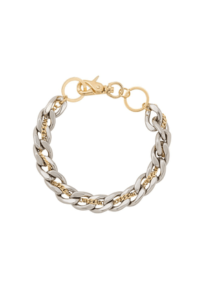 Sacai double-layered chain necklace - SILVER