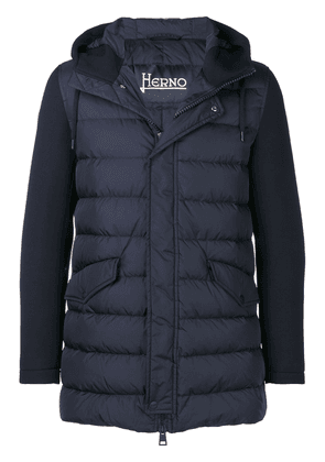 Herno contrast sleeved down jacket - Blue
