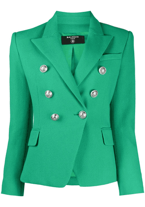 Balmain double-breasted blazer - Green