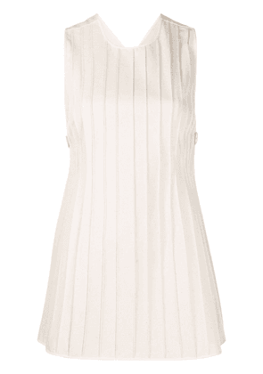 Jil Sander pleated sleeveless vest - NEUTRALS