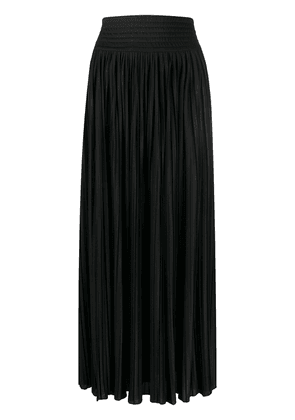 Balmain pleated side-slit skirt - Black