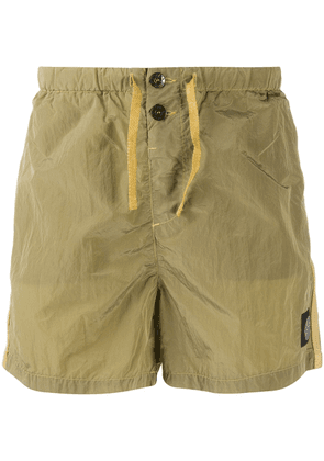 Stone Island logo embroidered swimming trunks - Green
