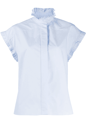 Alexandre Vauthier ruffled sleeves blouse - Blue