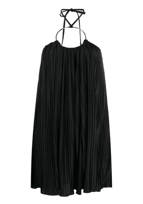 Balmain pleated short dress - Black