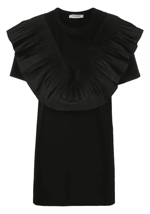 Valentino ruffle-bib long blouse - Black