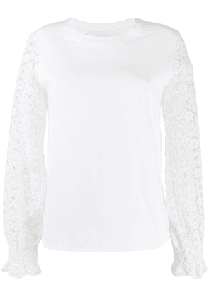 See by Chloé lace sleeve blouse - White