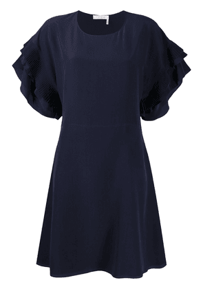 Chloé ruffle sleeve dress - Blue